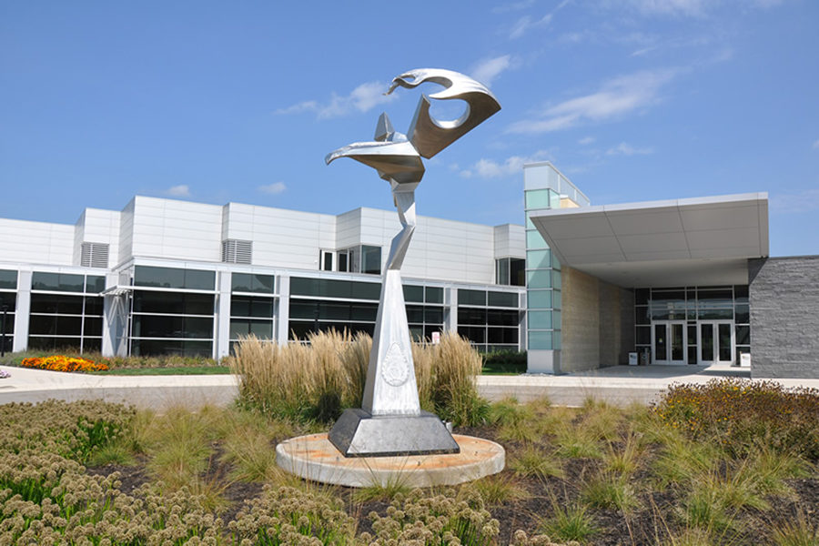 Sculpture: Dodge on PNW's Westville campus