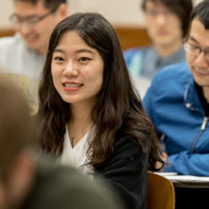 Female smiling student