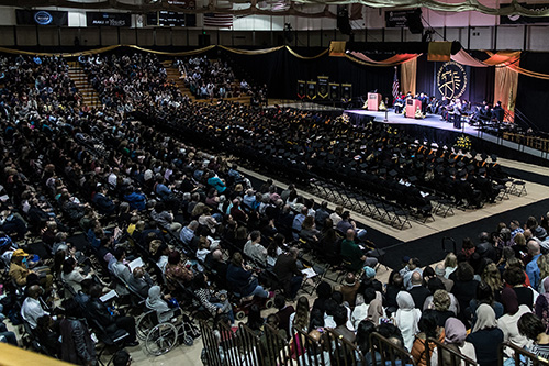 A crowd shot at PNW commencement.