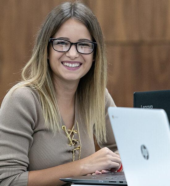 Image of student exploring graduate school.