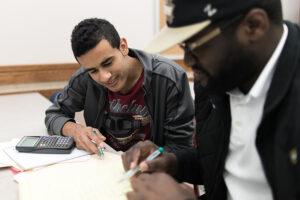 Image of student writing.