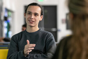 Image of student talking
