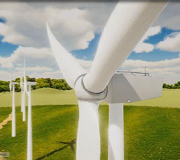 A large wind turbine