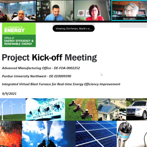 Project kick off screen shot is pictured.