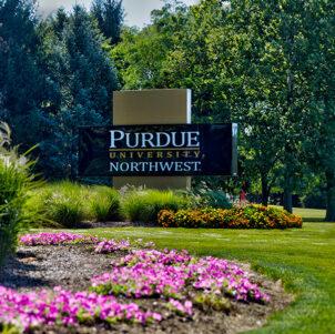 PNW Westville Campus sign