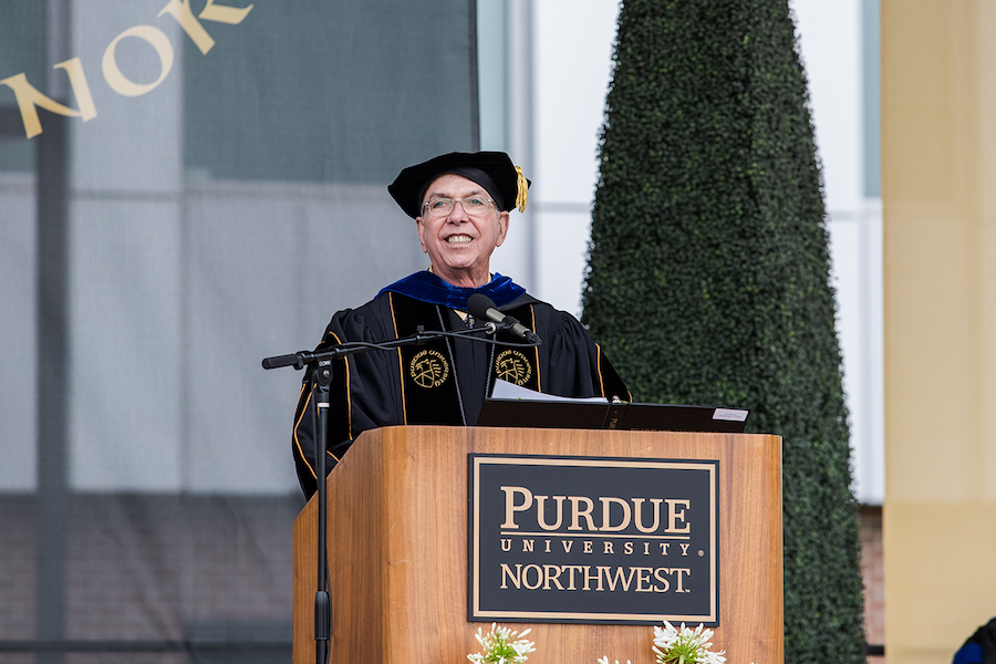 Chancellor Keon is pictured.