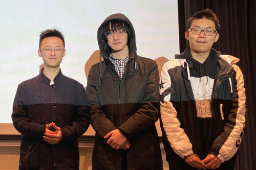 three computer information technology (CIT) students won first prize at the 3rd Annual Data Science Hackathon hosted by St. Mary's College in Notre Dame, Indiana