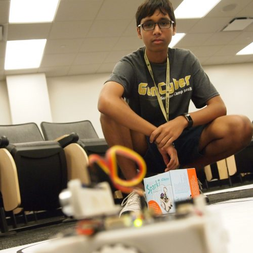 High school student Rayhan Zaman participated in the 2018 GenCyber Camp at Purdue University Northwest.