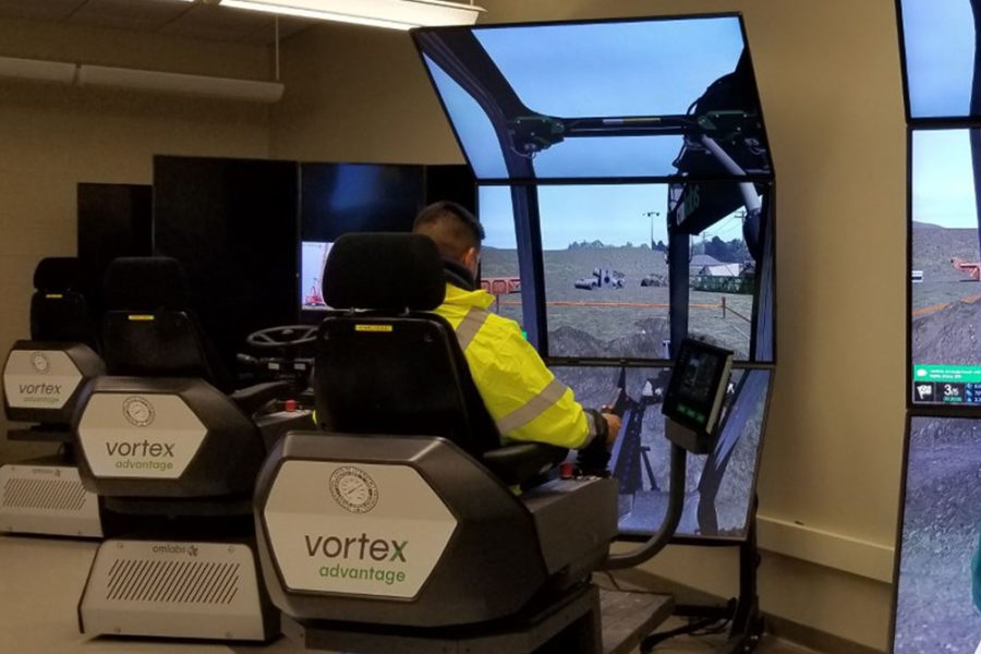 CEMT Students experience VR training for Heavy Equipment Operations