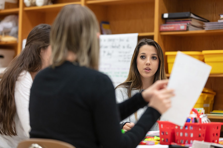 Counseling center session is pictured.