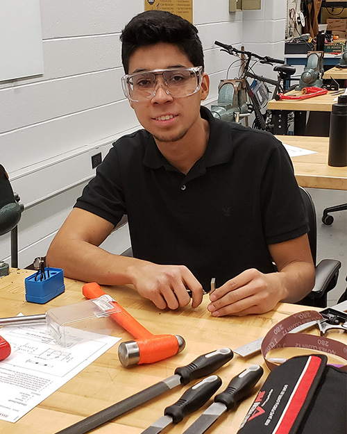 Hector Moya in class