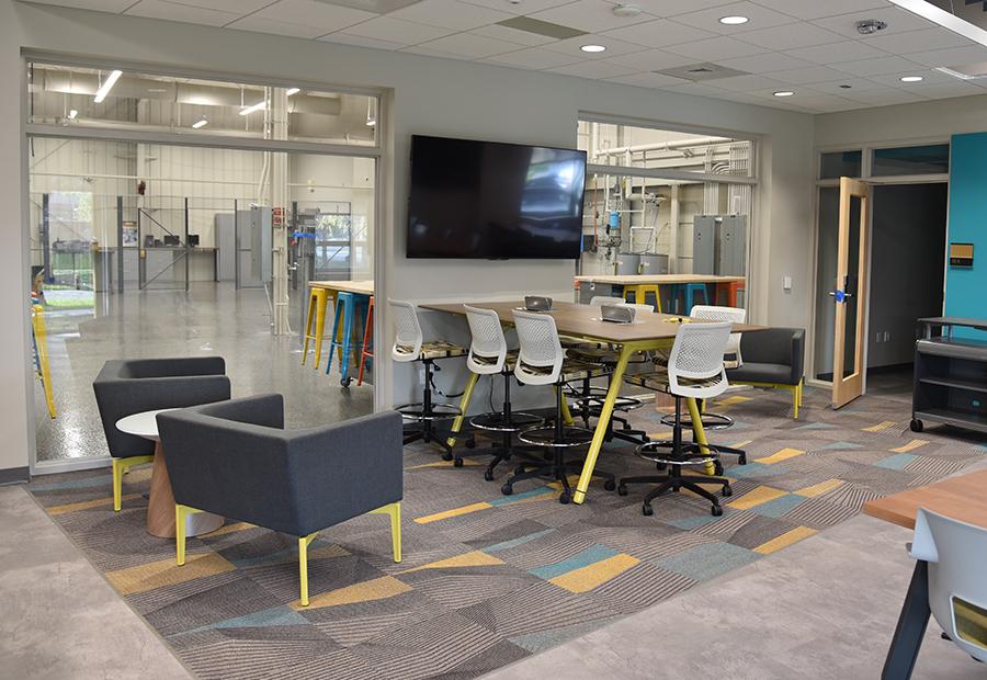 design studio entrance area/open study space