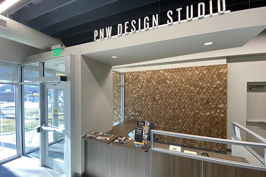 pnw design studio interior reception area