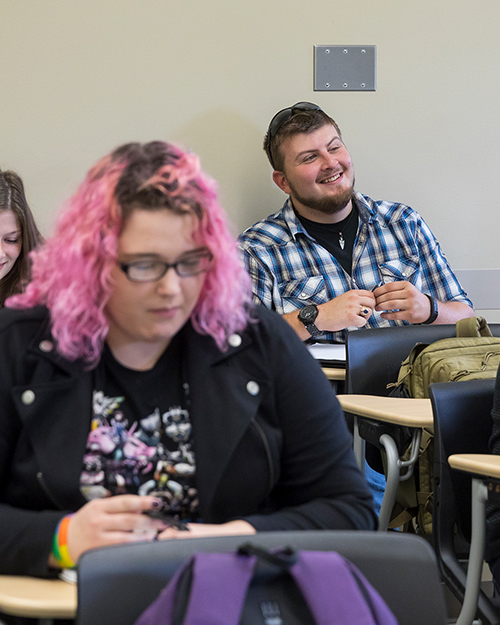 Students are pictured in the classroom.