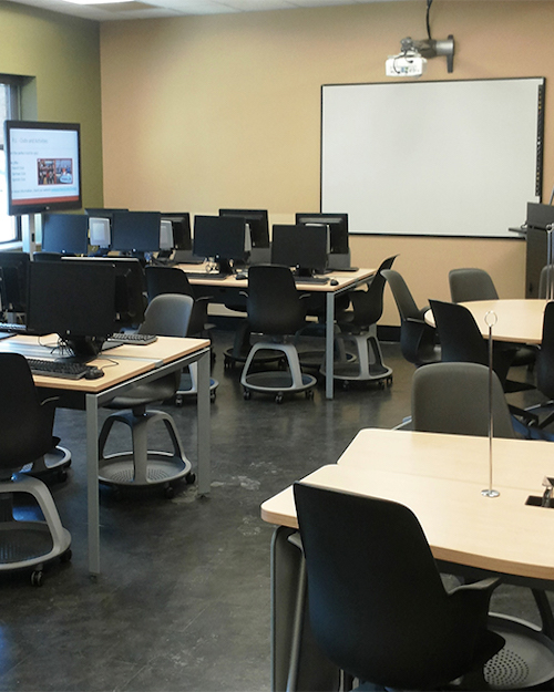 Language center is pictured.