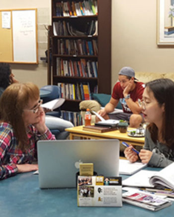 Students get help in PNW's Writing Center.