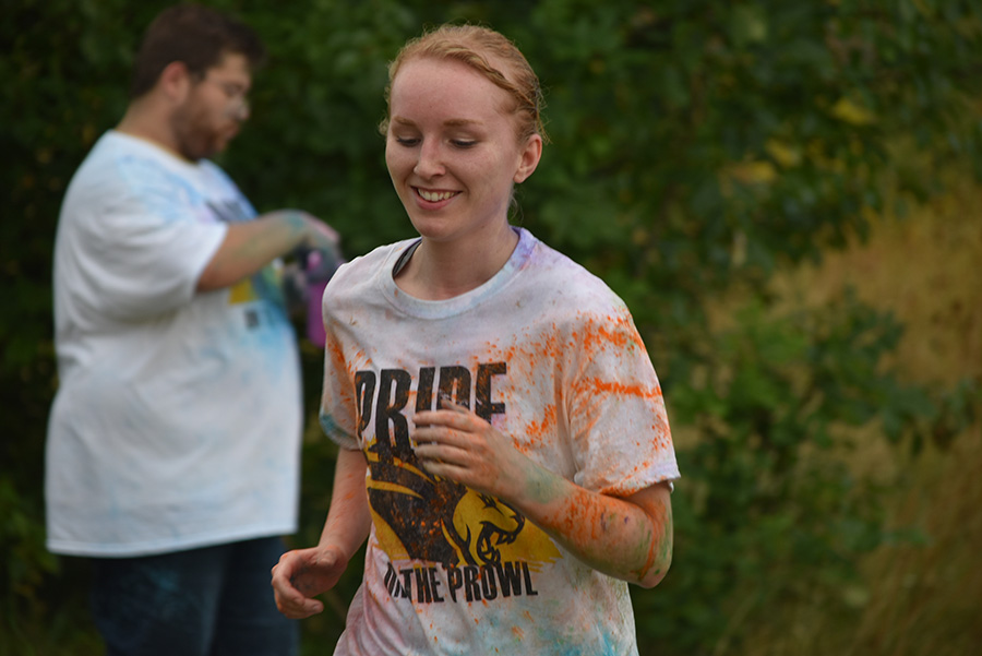 Pride Stride student running