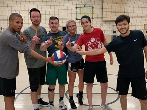 Volleybll players