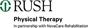 Logo: Rush Physical Therapy in Partnership with NovaCare Rehabilitation