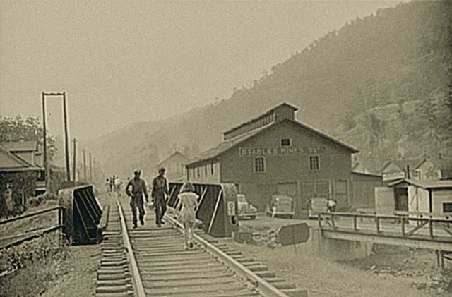 Coal town is pictured.