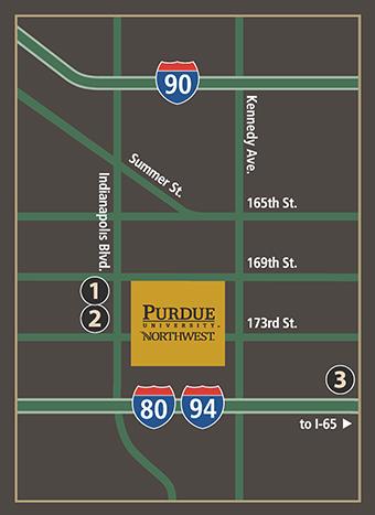 purdue calumet campus map Hammond Campus Map Getting To Pnw purdue calumet campus map