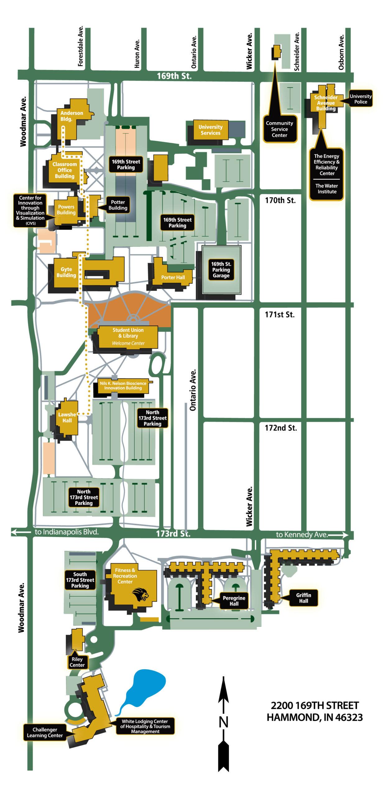 Hammond Campus Map (PDF)