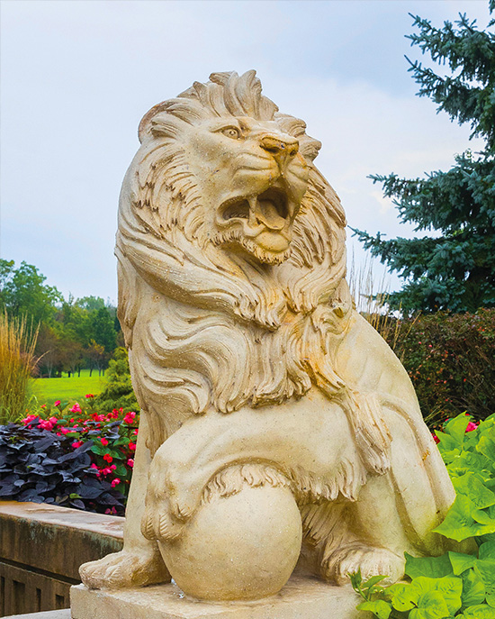 Lion Statute at Westville Campus