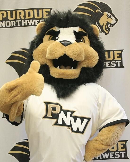 PNW mascot Leo the lion