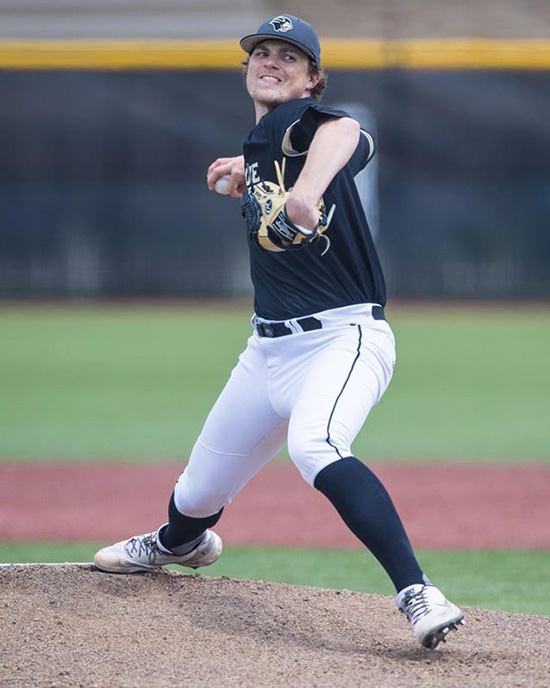 PNW Pitcher Chad Patrick on the mound