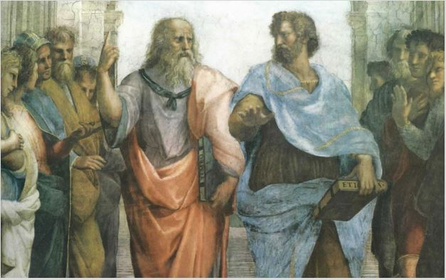 """Excerpt from Raphael's painting, """"School of Athens."""""""