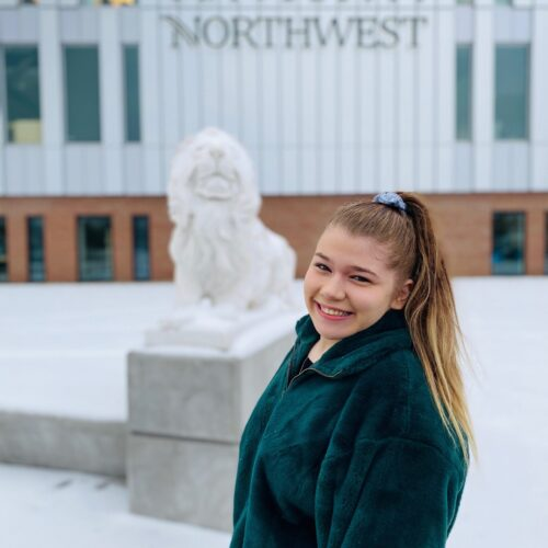 PNW student Isabella Osgood placed in the top 2.5 percent of international sales competition
