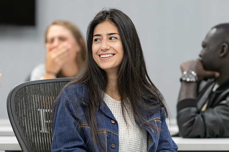 PNW student Stephaine Cordova in the classroom