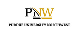 Vertical stack of PNW logo in black and gold