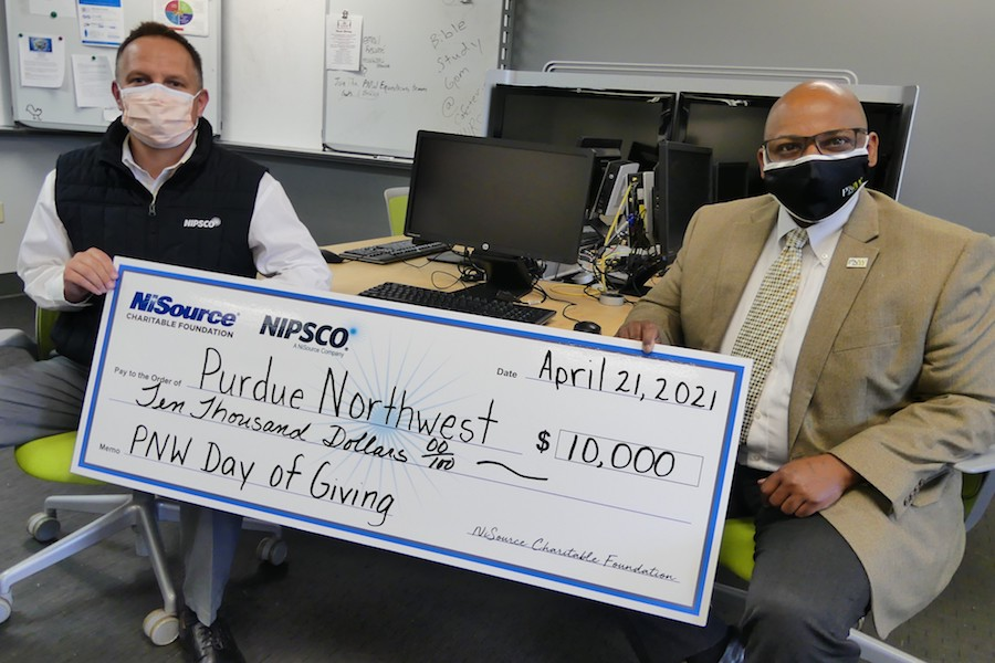 NIPSO donation giving is pictured.