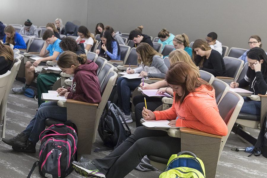 PNW students take a test