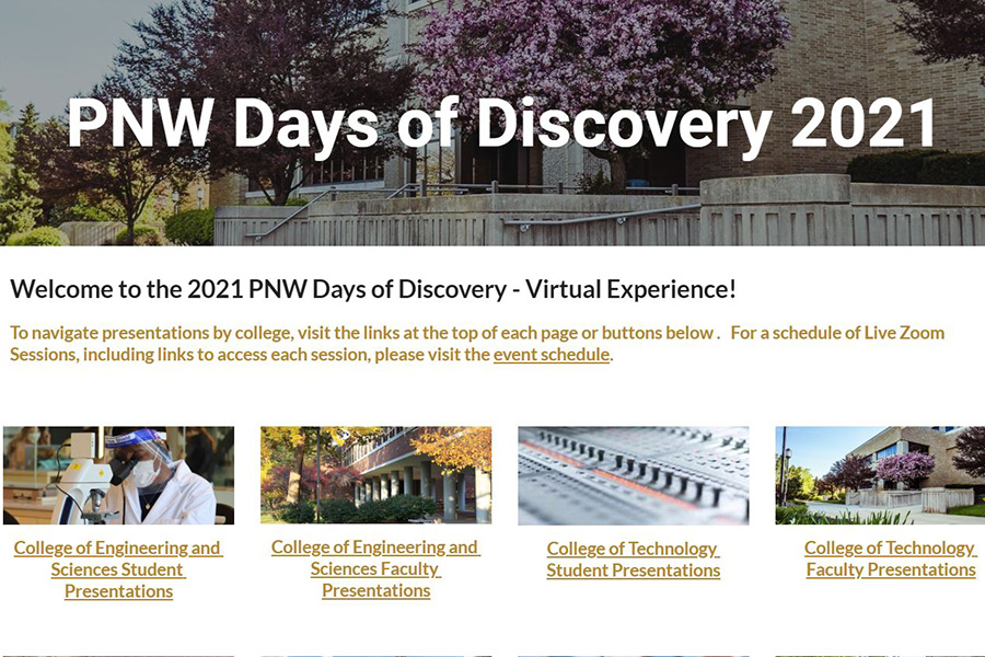 A screenshot of the Days of Discovery Landing page
