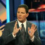 Baseball commentator Dan Plesac on air