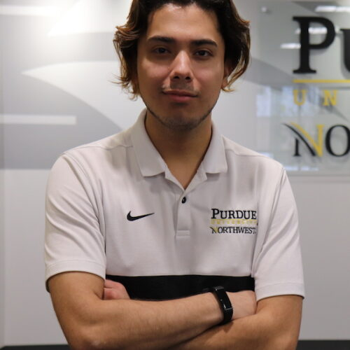 First-Generation student Hector Cabrera is pictured.