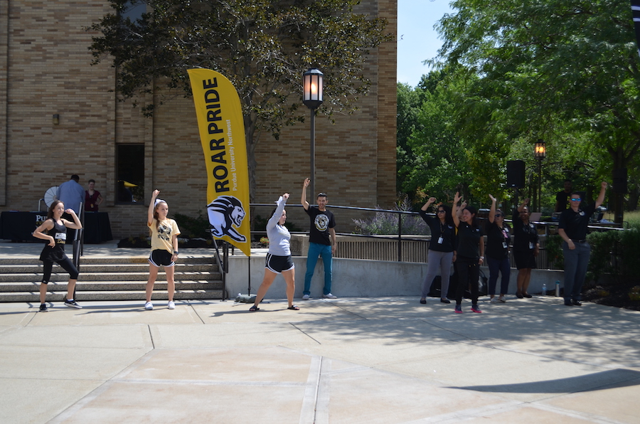 Students are pictured at the Westville Welcome Rally.