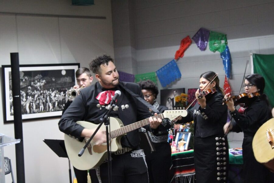 Day of the Dead celebration is pictured.