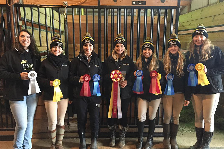 PNW's Boots and Bridles Club after a competition.