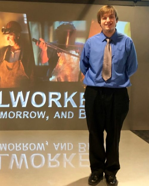 Grad Student Kyle Toth Presents Prize Winning Steel Industry Video