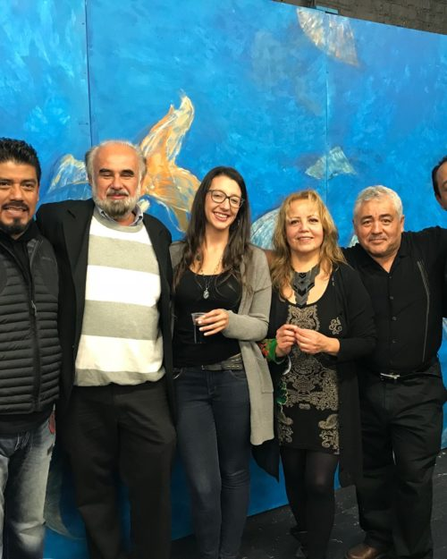 PNW Professor Jose Castro-Urioste with members of the El Tecolote acting group