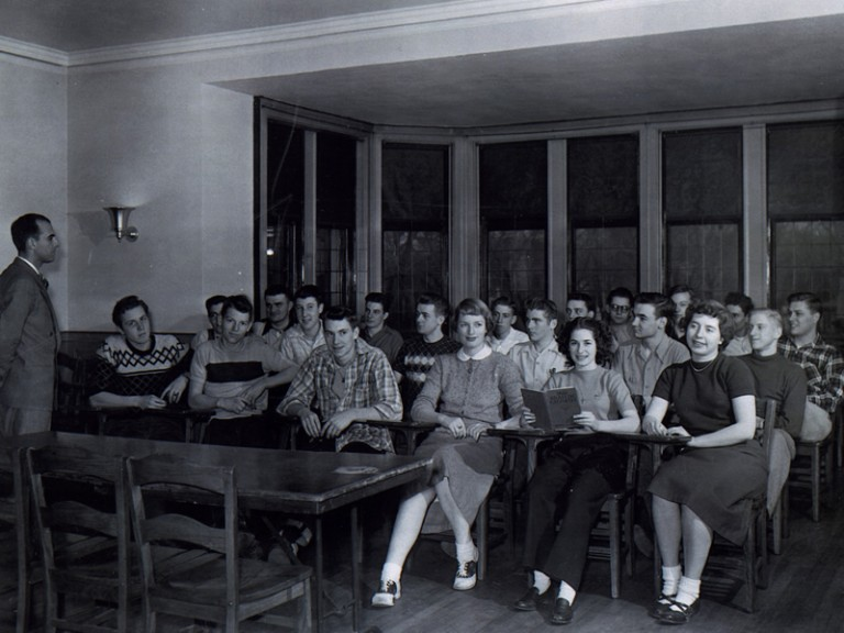 Class in Barker Mansion