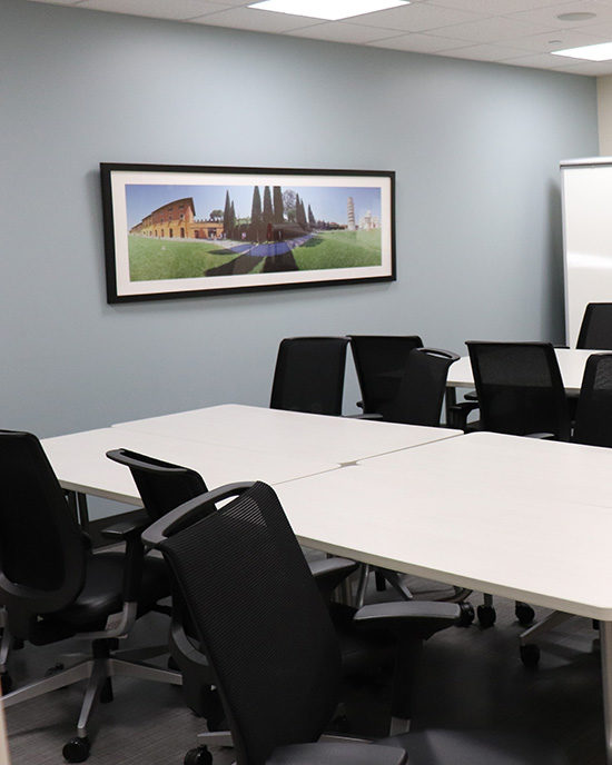 A conference room in PNW's Community Counseling Center.