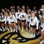 PNW's Women's Volleyball Team Poses on the Court