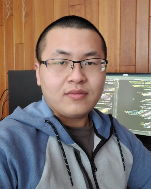 PNW student Hao Xu working on COVID-19 website