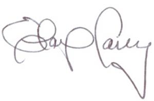 Elaine Carey signature