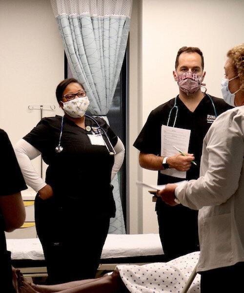 PNW Nursing Students in Lab Fall 2020