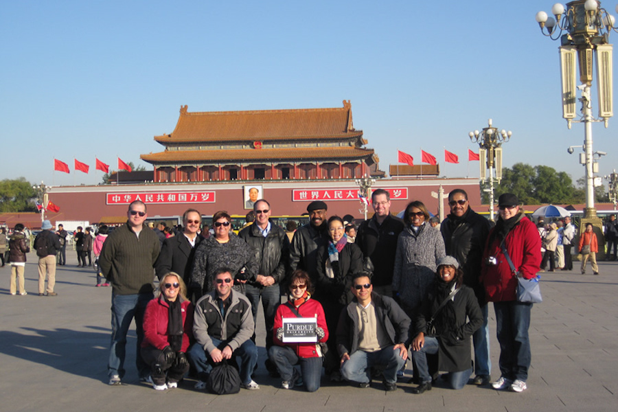 Image of MBA students in China.